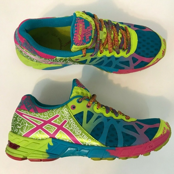 Details about Asics Gel Noosa Tri 9 Neon Green Triathalon Shoes Sneakers T458N Womens Size 11